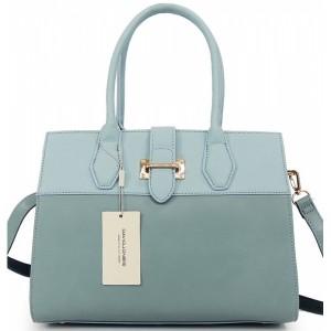 Elegantná modrá kabelka do ruky so zapínaním na zips