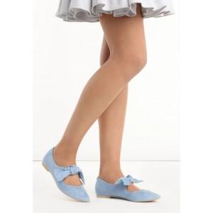 Modré dámske balerínky na leto