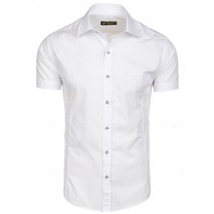 Elegantné pánske košele s krátkym rukávom bielej farby