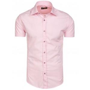 Ružové pánske košele slim fit