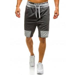 Športové pánske šortky sivej farby