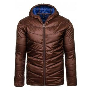 Pánska prechodná bunda hnedej farby