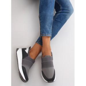 Sivá dámska športová obuv na platforme