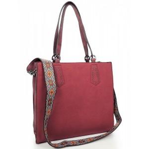 Štýlová dámska shopper kabelka červenej farby
