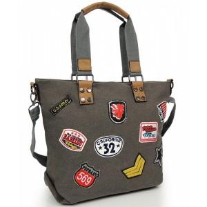 Sivá shopper kabelka pre dámy