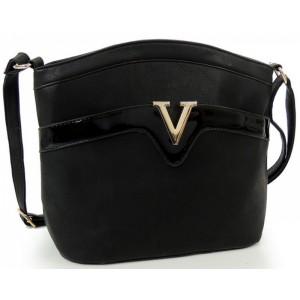 Čierna dámska elegantná listová kabelka