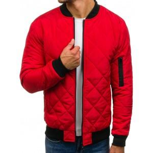 Červená pánska bomber bunda
