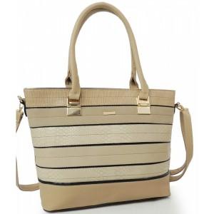 Dámska kabelka s prackou béžovej farby