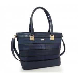 Modrá elegantná kabelka pre každú dámu