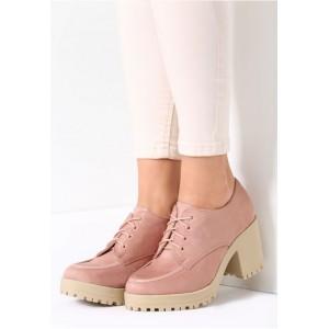 Ružové dámske šnurovacie topánky na jeseň