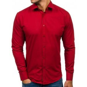 Moderná pánska košeľa červenej farby
