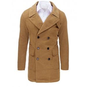 Béžový pánsky kabát na zimu