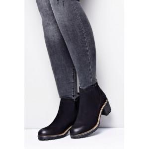 Dámske kotníkové topánky v čiernej farbe