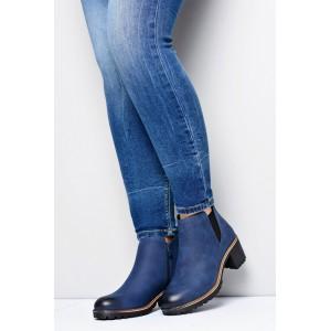 Tmavo modré dámske topánky na zips
