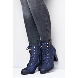 Dámske elegantné topánky v tmavo modrej farbe