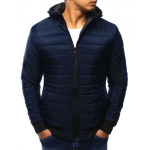 Pánska prechodná bunda tmavo modrej farby