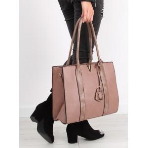 Ružová kabelka cez rameno s aplikáciou