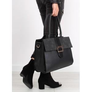 Dámske kabelky na rameno v čiernej farbe