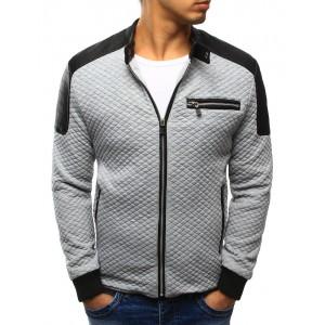 Sivá jesenná pánska bunda