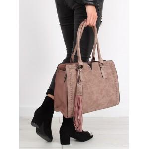 Moderná kabelka cez plece ružovej farby