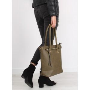Zelené dámske kabelky so zipsom