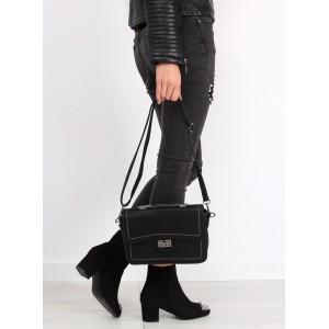 Kvalitná crossbody kabelka čiernej farby