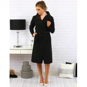 Moderné dámske kabáty čiernej farby