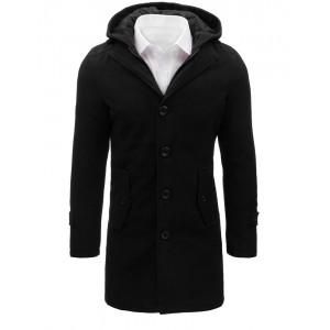 Dlhé pánske kabáty na zimu čiernej farby