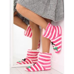 Ružové dámske papuče so snehuliakom