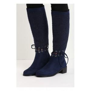 Tmavo modre dámske topánky na podpätku