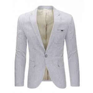 Elegantné bavlnené pánske sako s vreckami v sivej farbe
