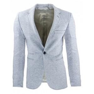Športové pánske sako slim fit sivej farby vhodné na každú príležitosť