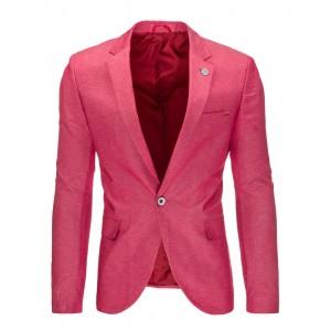 Elegantné pánske slim fit sako ružovej farby vhodné na každú príležitosť