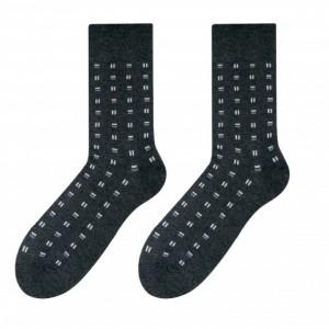 Moderné pánske bavlnené ponožky sivej farby so vzorom