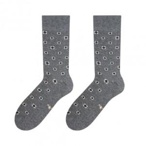 Štýlové bavlnené pánske ponožky sivej farby do mokasín