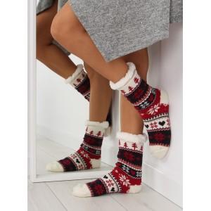 Hrubé dámske farebné ponožky v severskom štýle