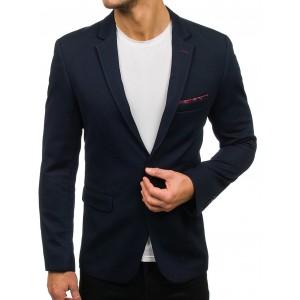 Tmavomodré elegantné sako pre pánov