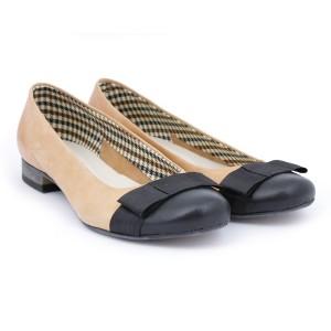 Elegantné kožené dámske balerínky