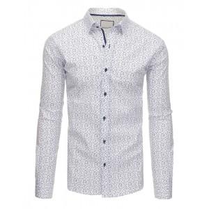 Bavlnené pánske biele košele so vzormi na každú príležitosť