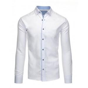 Jednoduché pánske moderné košele bielej farby