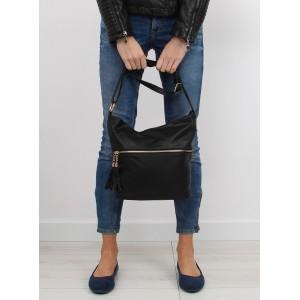 Moderné dámske kabelky na rameno čiernej farby