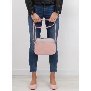 Dámska štýlová crossbody kabelka v ružovo sivej farbe
