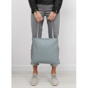 Modrá dámska SHOPPER kabelka s malou kozmetickou taškou navyše