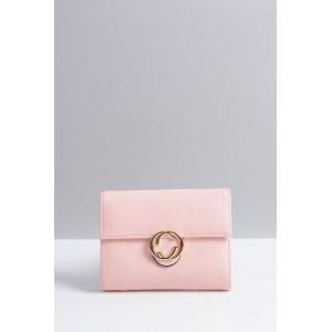 Malá praktická dámska peňaženka ružovej farby s ozdobou
