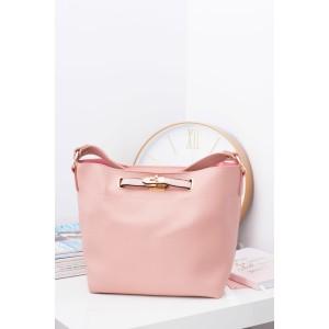 Veľká ružová dámska kabelka na rameno s kozmetičkou taštičkou vnútri