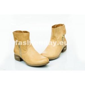 Dámske kožené topánky pieskové DT475