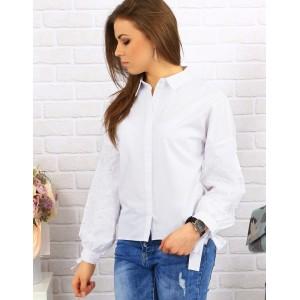 Elegantné biele dámske košele s jemnou výšivkou na rukávoch