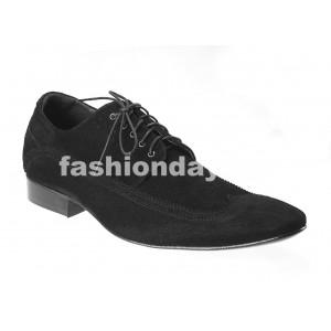 Pánske semišové spoločenské topánky čierne