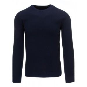 Jednoduchý tmavo modrý pánsky sveter na každodenné nosenie