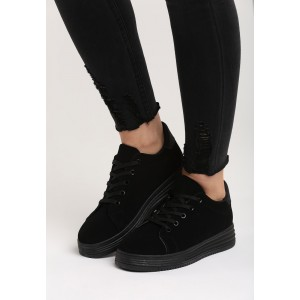 Čierna dámska športová obuv s hrubou podrážkou